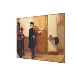 Harmensz van Rijn Rembrandt (1606-69) Knocking on Canvas Print