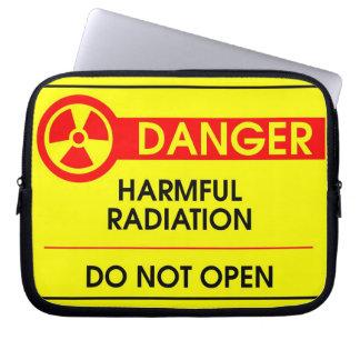 Harmful radiation danger laptop computer sleeve