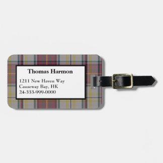Harmon Dress Tartan Plaid Luggage Tag