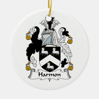 Harmon Family Crest Ceramic Ornament