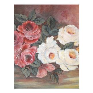 Harmonia de Rosas - óleo - 40x60 Tarjetón