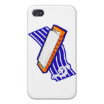 Harmonia , White with blue music staff behind Grap iPhone 4/4S Cover