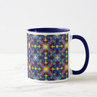 Harmonic Crystal Mandala Pattern Mug