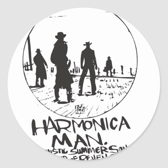 HARMONIC IN THE WEST CLASSIC ROUND STICKER