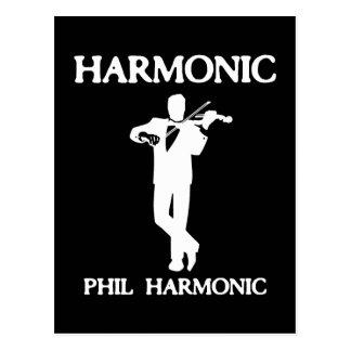 Harmonic, Phil Harmonic Postcard