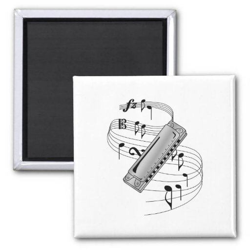 Harmonica 2 Inch Square Magnet