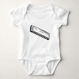 Harmonica/Blues Harp Baby Bodysuit