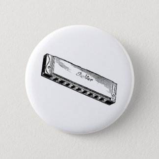 Harmonica/Blues Harp Pinback Button