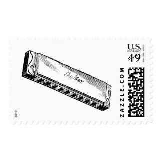 Harmonica/Blues Harp Postage Stamp