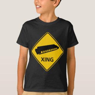 Harmonica Crossing Highway Sign T-Shirt