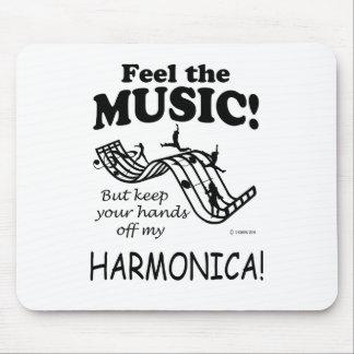 Harmonica Feel The Music Mouse Pad