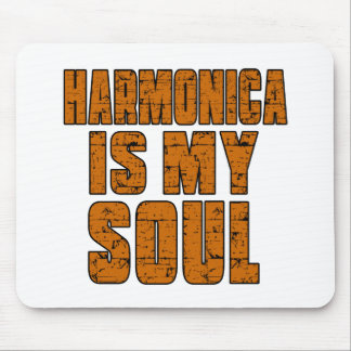 HARMONICA IS MY SOUL MOUSE PAD