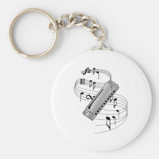 Harmonica Keychain