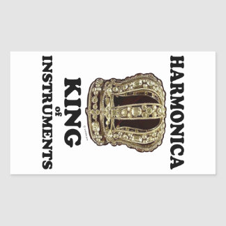 Harmonica King of Instruments Rectangle Sticker