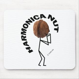 Harmonica Nut Mouse Pad