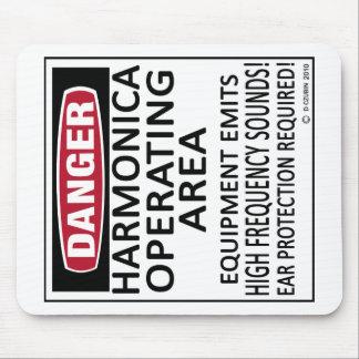 Harmonica Operating Area Mouse Pad