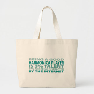 Harmonica Player 3% Talent Canvas Bags