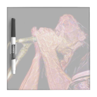 harmonica player artistic version musician Dry-Erase board