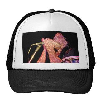 harmonica player artistic version musician trucker hats