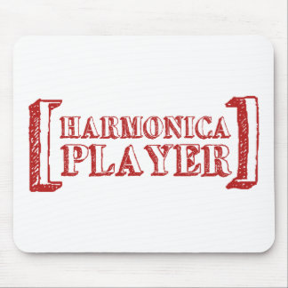 Harmonica Player Mouse Pad