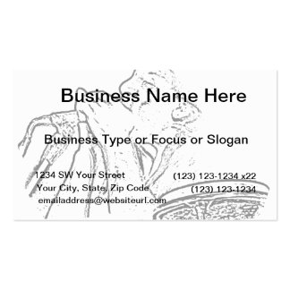 Harmonica Player with drum outline Double-Sided Standard Business Cards (Pack Of 100)