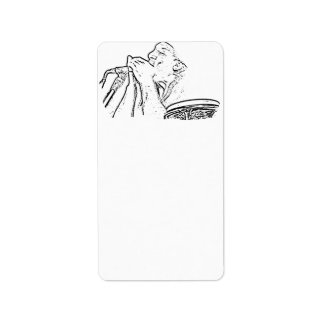Harmonica Player with drum outline Custom Address Labels