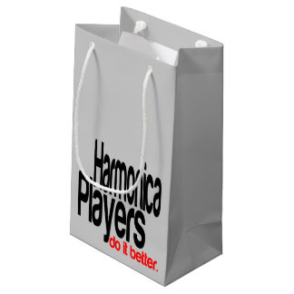 Harmonica Players Do It Better Small Gift Bag