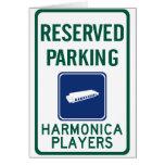 Harmonica Players Parking Card