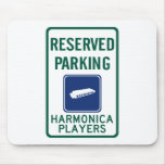 Harmonica Players Parking Mouse Pad