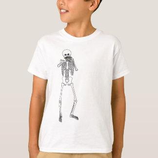 Harmonica Playing Skeleton T-Shirt
