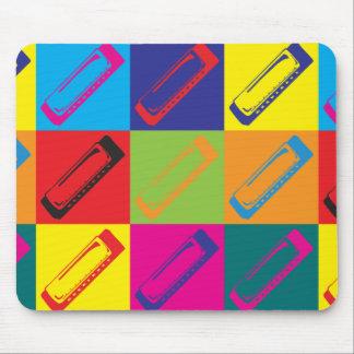 Harmonica Pop Art Mouse Pad