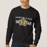 Harmonica Rock Star by Night Sweatshirt