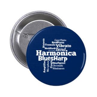 Harmonica Word Cloud 2 Inch Round Button