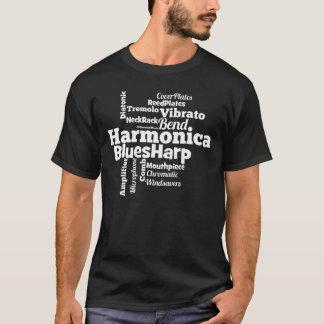 Harmonica Word Cloud T-Shirt
