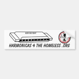 Harmonicas for the Homeless Car Bumper Sticker