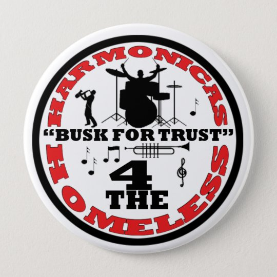 Harmonicas for the Homeless Pinback Button