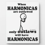 Harmonicas Outlawed Plaque