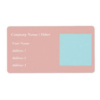 Harmonious Color Combination Mix Template Label