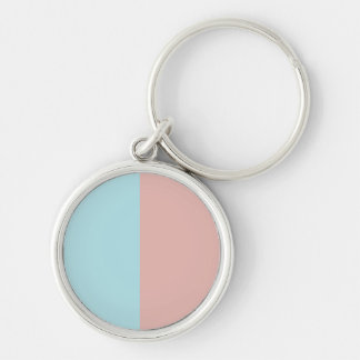 Harmonious Color Combination Mix Template Silver-Colored Round Keychain