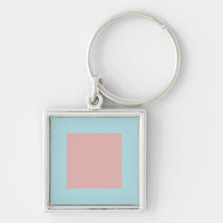 Harmonious Color Combination Mix Template Silver-Colored Square Keychain