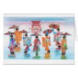 HARMONIOUS MOTION, JAPANESE GEISHA GREETING CARD
