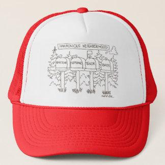 Harmonious neighborhood:: 'Baritone, Soprano, Trucker Hat