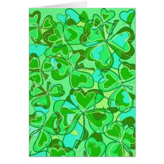 harmonious shamrocks greeting card