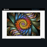 "Harmonium Acer Chromebook Skin<br><div class=""desc"">Acer Chromebook custom skin design from &quot;Harmonium, &quot; an Apophysis fractal by Susan Wallace. Copyright &#169; 2012,  Susan Wallace. Floral spiral with shimmering unfolding petals in a rainbow of bright colors. High quality image resolution with glossy finish. Laminated vinyl; easy to apply and peel off with no sticky residue.</div>"