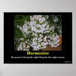 Harmonize Motivational Poster