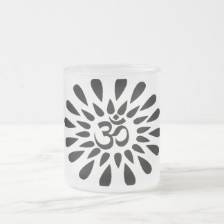 Harmony 10 Oz Frosted Glass Coffee Mug