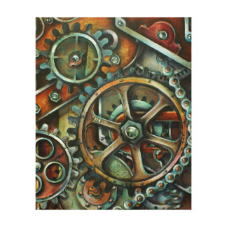 'Harmony 3' mechanical stretched canvas print