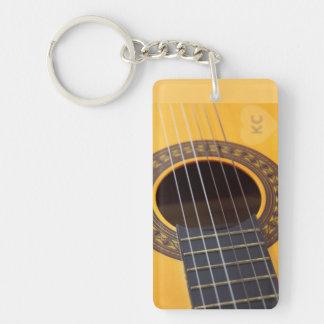 Harmony Acoustic Guitar Single-Sided Rectangular Acrylic Keychain