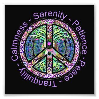 Harmony, Balance, Oneness Peace Symbol Photo Print