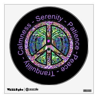 Harmony, Balance, Oneness Peace Symbol Wall Sticker